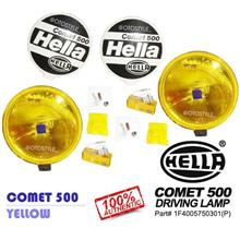 HELLA COMET 500 Round Spot Light w/ H3 Halogen Bulb (Yellow) [1 Pair]