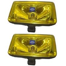 HELLA COMET 550 Spot Light with H3 Halogen Bulb (Yellow) [1 Pair]