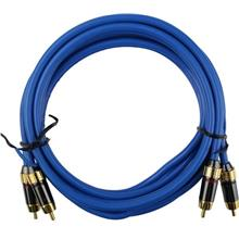 *PROMOTION* 2Meter 24K Gold Plated Home HIFI / Car Amplifier RCA Cable