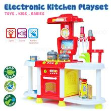 Kitchen Playset with Sound LED Cookware Role Pretend Play Kids Toy Toy