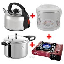 [Bundle Set] Butterfly Kettle 4.7L + Portable Gas Stove + Pressure Coo)