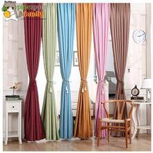 Blackout Thermal Solid Window Curtain