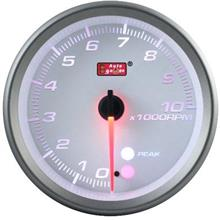 RPM TACHOMETER AUTOGAUGE 80mm Amber, White and Blue [565]