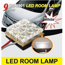 *NEW* TP POWER 9 LED Crystal White Room Lamp RS-0901 [White]