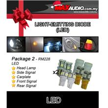 *PACKAGE 2* SHILONG Front, Rear & Side Signal, Head Lamp, Carplate LED
