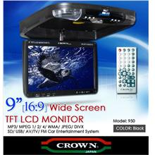 CROWN 9' TFT Roof Monitor w/ USB/SD Support MP3/WMA/DIVX/JPEG [950]