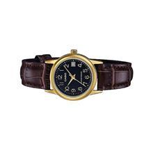 Casio Ladies Analog Leather Date Watch LTP-V002GL-1BUDF
