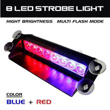 8 LED Super Bright Emergency Warning Dashboard Flashing Strobe light