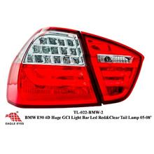 BMW E90 2006 - 2009 EAGLE EYES Red Clear Light Bar LED Tail Lamp