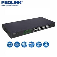 PROLiNK PSG2402 24-Port 10/100/1000Mbps Gigabit Ethernet Switch)