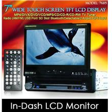 DLAA 7 In-Dash Touch Screen TFT Monitor DVD/ USB/ SD/ TV/ GPS Input