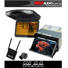 "DLAA 7"" Full HD Motorized Double Din DVD TV Player + 9"" Roof Monitor"