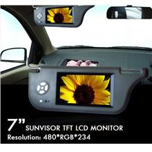 "DLAA 7"" Sunvisor TFT Wide Screen High Resolution Grey Monitor [D7201]"