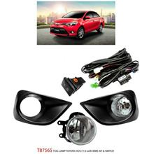 TOYOTA VIOS 2013: TRIO OEM Fog Lamp Spot Light w/ Wire Kit [T87565]