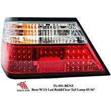 MERCEDES BENZ MASTERPIECE W124 EAGLE EYES Clear & Red LED Tail Lamp
