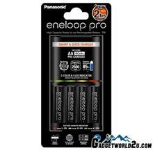 Panasonic Eneloop 2Hr Quick Charger+ AA x4 Eneloop Pro 2550mAh Battery