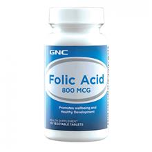 GNC Folic Acid 800mcg (100 VegeTabs)