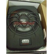 "Black Eagle 8"" Extra Slim Underseat Active Subwoofer With LED Light"
