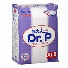 Dr P Basic Adult Diapers XL 8s