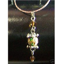 Necklace Cloisonne & Swarovski Crystals Bronze
