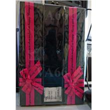 6 Black n Pink Ribbon Jewelry Gift Long Box No Window Necklace Gelang