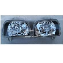 Kancil Head Lamp Crystal Black, Glass Lens