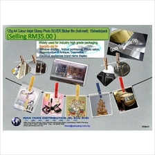 125g A4 Colour Inkjet Glossy Photo Silver  Sticker film holt-melt)