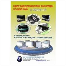 T650 Lexmark  remanufacture Mono toner cartridge