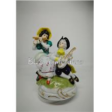 PORCELAIN HAND PAINTED DECORATION STATUE ANIMALS GIFT SS126