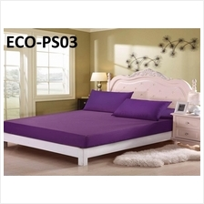 👍👍👍Plain Colour Single Size fitted bedsheet (ECO-PS)