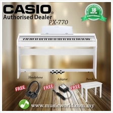 CASIO PX-770 88 Key Digital Piano White with Bench and Headphone (PX77