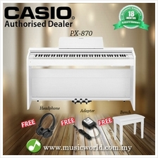 Casio PX-870 88 Keys Digital Piano White with Bench and Headphone (PX