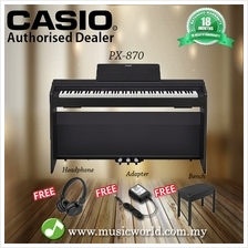 Casio PX-870 88 Keys Digital Piano Black with Bench and Headphone (PX