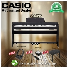 CASIO PX-770 88 Key Digital Piano Black with Bench and Headphone (PX77