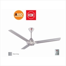 KDK K15WO-SL CEILING FAN SILVER 3 SPEED