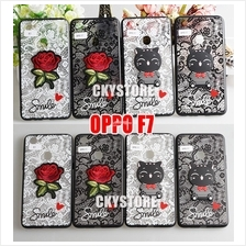 OPPO A3S F9 F7 A71 SMILE CAT Flower TEDDY BEAR Hard Case