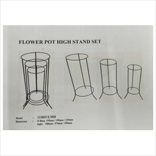 ANTIQUE COLOR SET OF 3 TWO LAYERS IRON STAND 123 HT /LMH