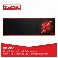 CLiPtec THERIUS Gaming Mouse Mat-RGY368 (Black))