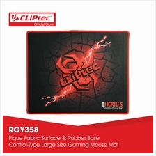 CLiPtec THERIUS Gaming Mouse Mat-RGY358 (Black))
