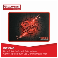 CLiPtec THERIUS Gaming Mouse Mat-RGY348 (Black))
