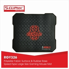 CLiPtec SAURIS Gaming Mouse Mat-RGY326 (Black))