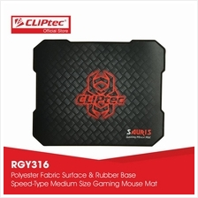 CLiPtec SAURIS Gaming Mouse Mat-RGY316 (Black))