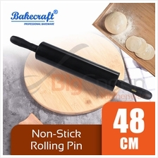 BAKECRAFT Non-Stick Rolling Pin Black 48cm [MG-499]