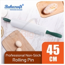 BAKECRAFT Professional Non-Stick Rolling Pin White 45cm [MG-501]