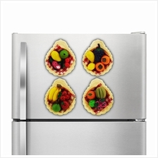 4 Piece Set Fridge Magnet Fruits Design [MH710]