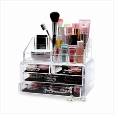 4-Drawer 3-Tier Layers Clear Acrylic Cosmetic Rack Organizer