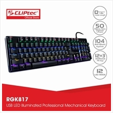 CLiPtec PLETERO104 USB Professional Mechanical Keyboard RGK817)
