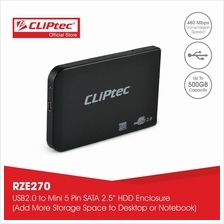 "CLiPtec 2.5 "" USB 2.0 SATA HDD Enclosure-RZE270)"