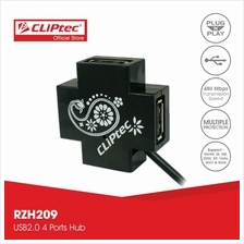 CLiPtec MINI-XCROSS USB 2.0 4 Port Hub-RZH209)