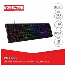 CLiPtec Stegocoria RGB Mechanical Pro-Gaming Keyboard RGK833)